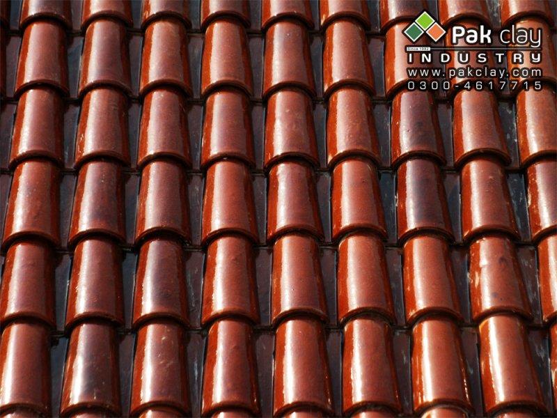 Spanish glazed clay terracotta bricks roofing tiles pakistan for Spanish clay tile
