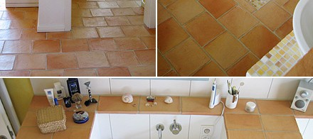 Kitchen Floor Tiles and Shower Bathroom Tiles Flooring.