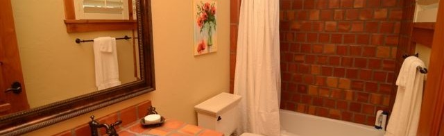 Bathroom Clay Tiles around Vanities Sink in Lahore