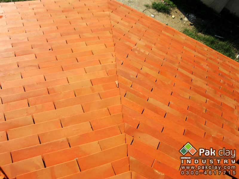 High quality natural red flat roof tiles for Flat clay tile roof