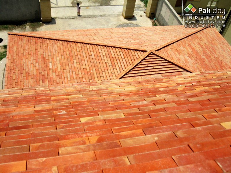 Flat tiles 12 x4 pak clay roof tiles pakistan for Roof tile patterns