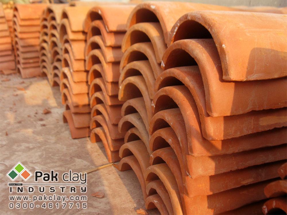 3 Pak clay ceramic khaprail roof tiles design price per square foot in lahore karachi pakistan