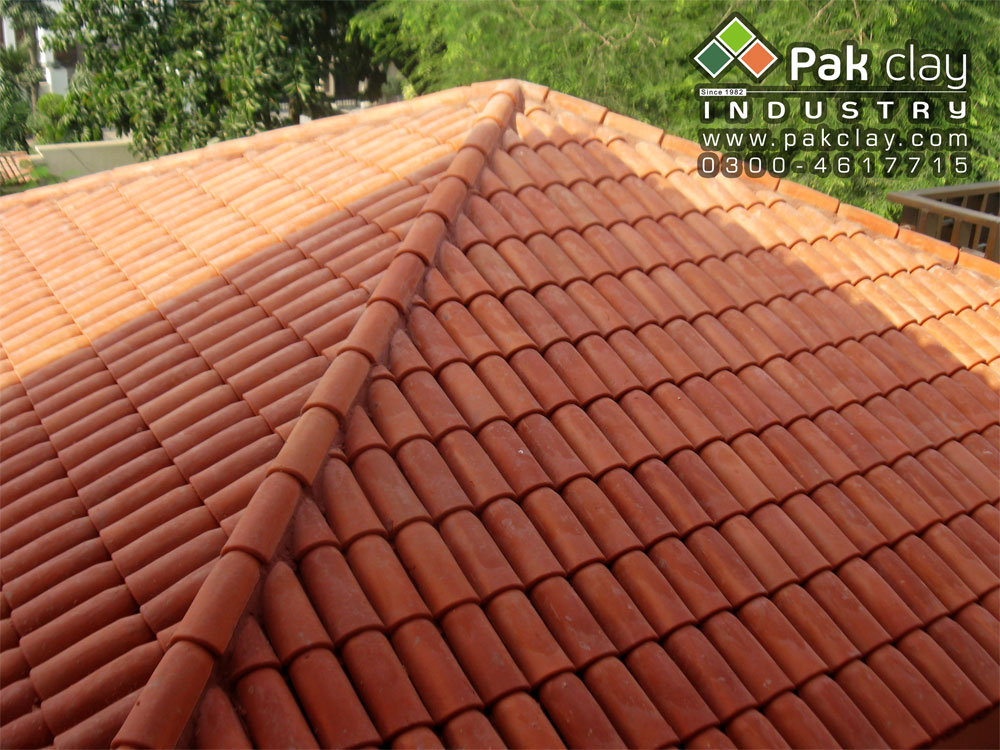 7 Pak clay ceramic roof tiles terracotta roofing materials roof shingles khaprail tiles in english images