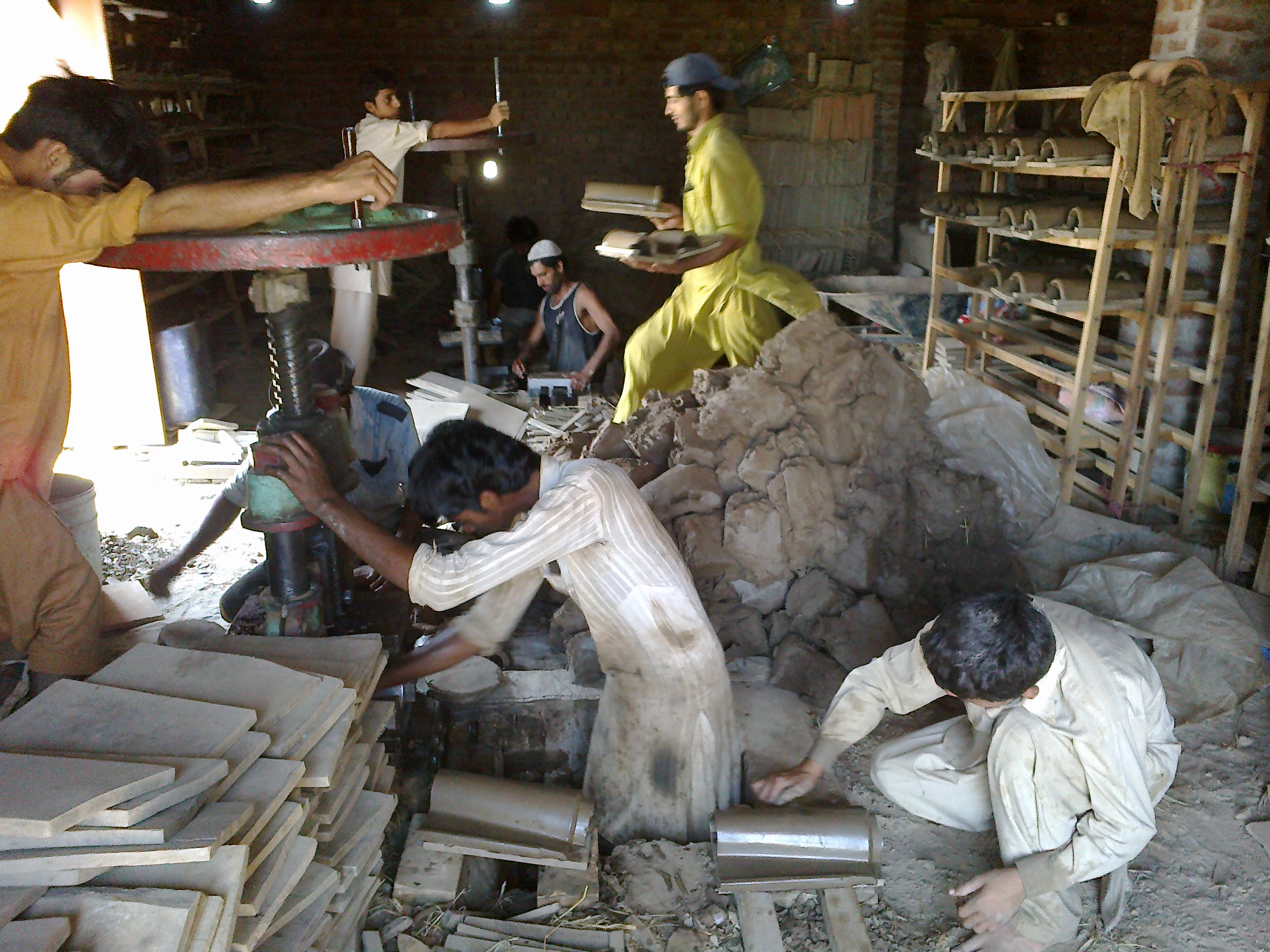 Roof Tiles Industry Manufacturing unit (lightweight)