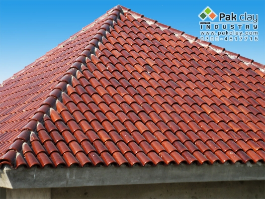 Red terracotta roof tiles types and prices buy online in for Clay tile roofs