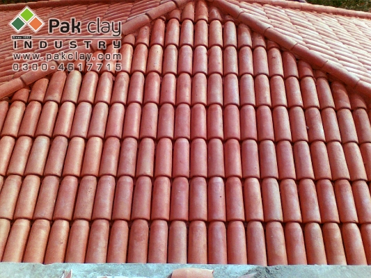 Sloped Khaprail Roofing Tiles Materials Pak Clay Roof Tiles