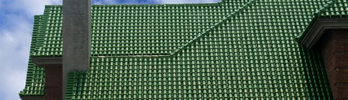 Green Glazed Interlocking Clay Roof Tiles Pictures.