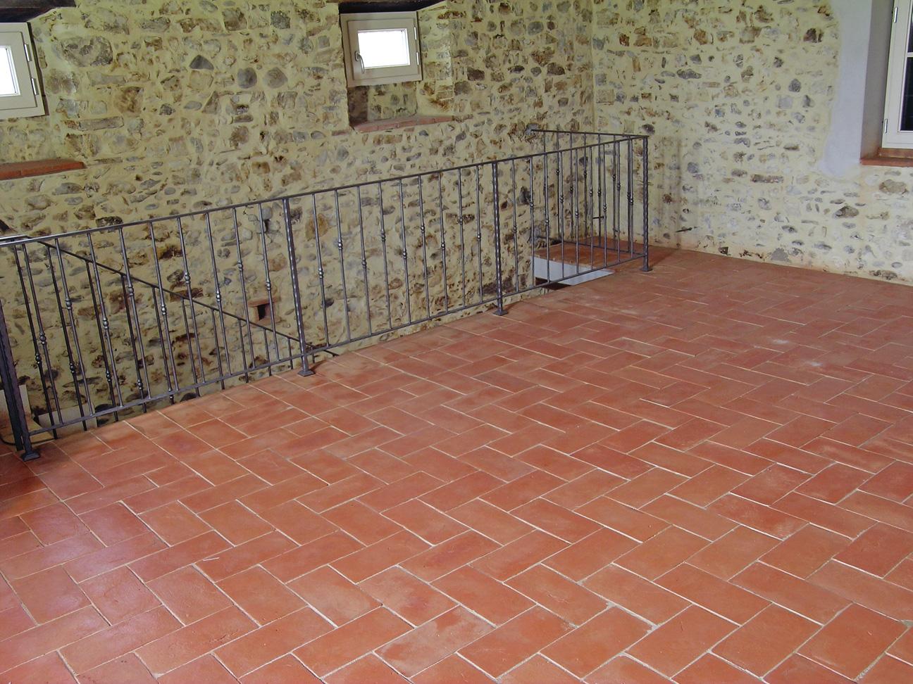 Ceramic Terracotta Tiles In Kitchen