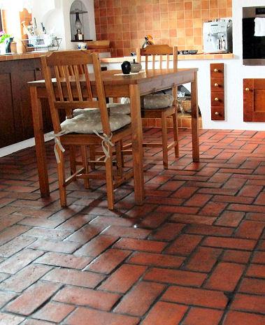 Wholesale Kitchen Terracotta Floor Tiles Material Design Pictures.