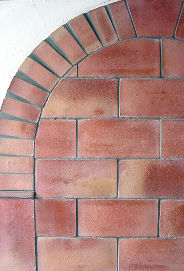 Antique terracotta brick tiles exterior wall design for Brick flooring prices