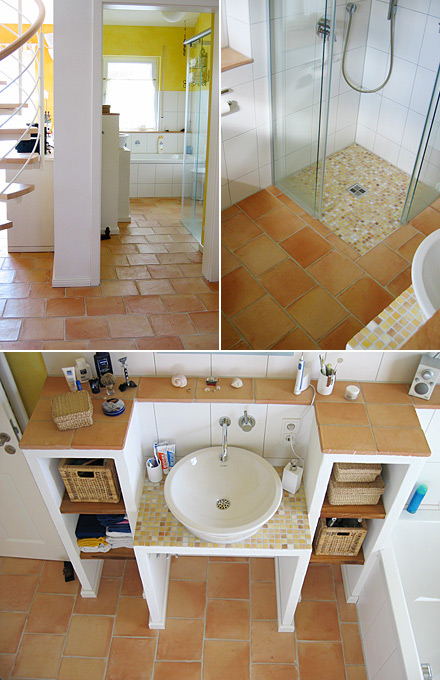 Kitchen Floor Tiles and Shower Bathroom Tiles Flooring.