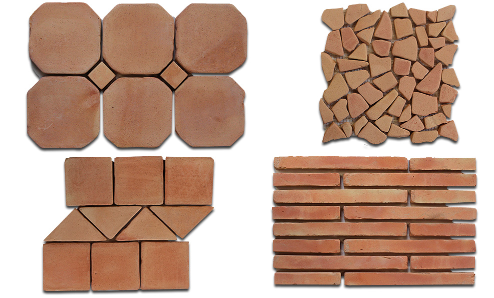 Buy online red brick floor and walls tiles for sale pak for Buy clay roof tiles online