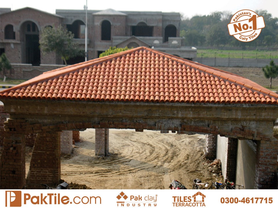 2 Pak Clay Industry Clay Roof Tiles in Pakistan Images.
