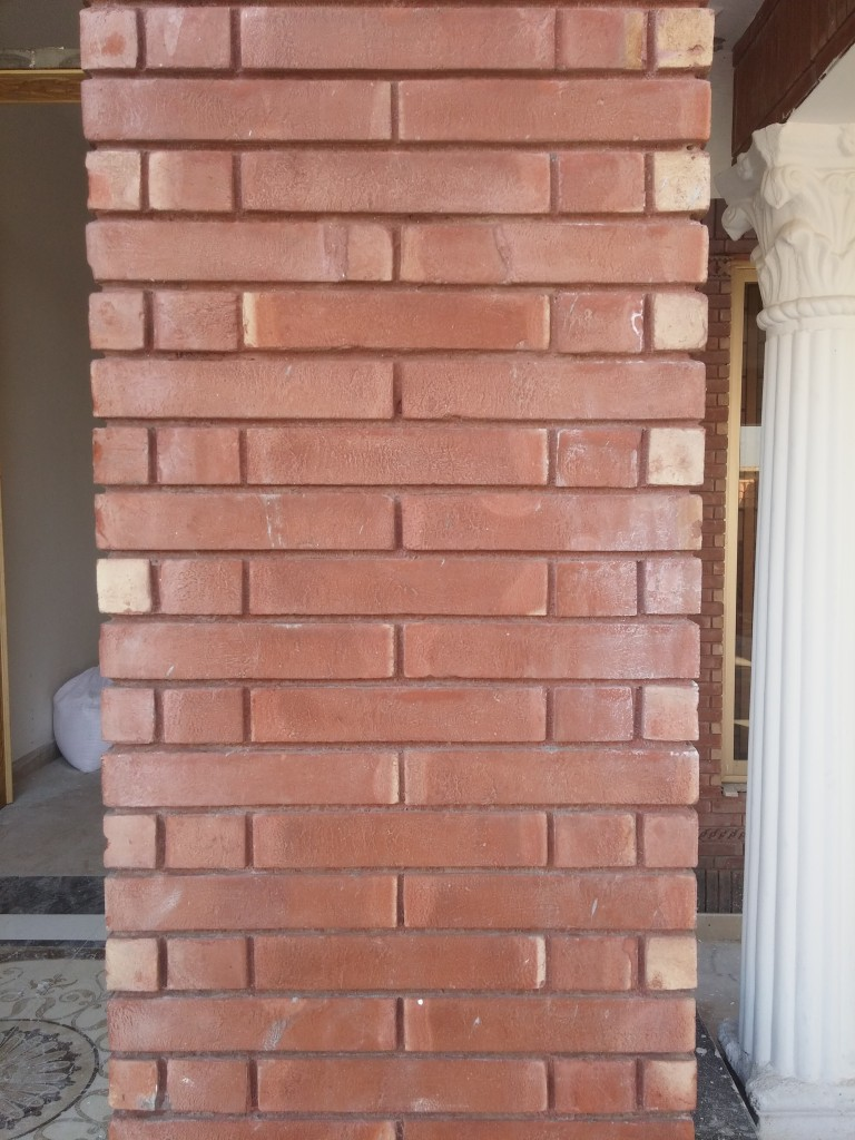 Red Gutka Wall Face Tiles Houses Design Size Rate In