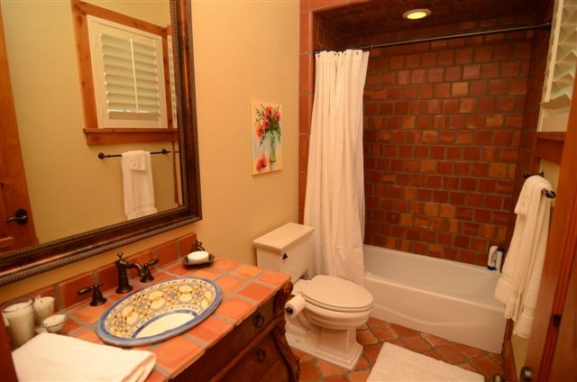 Bathroom Clay Tiles around Vanities Sink in Lahore