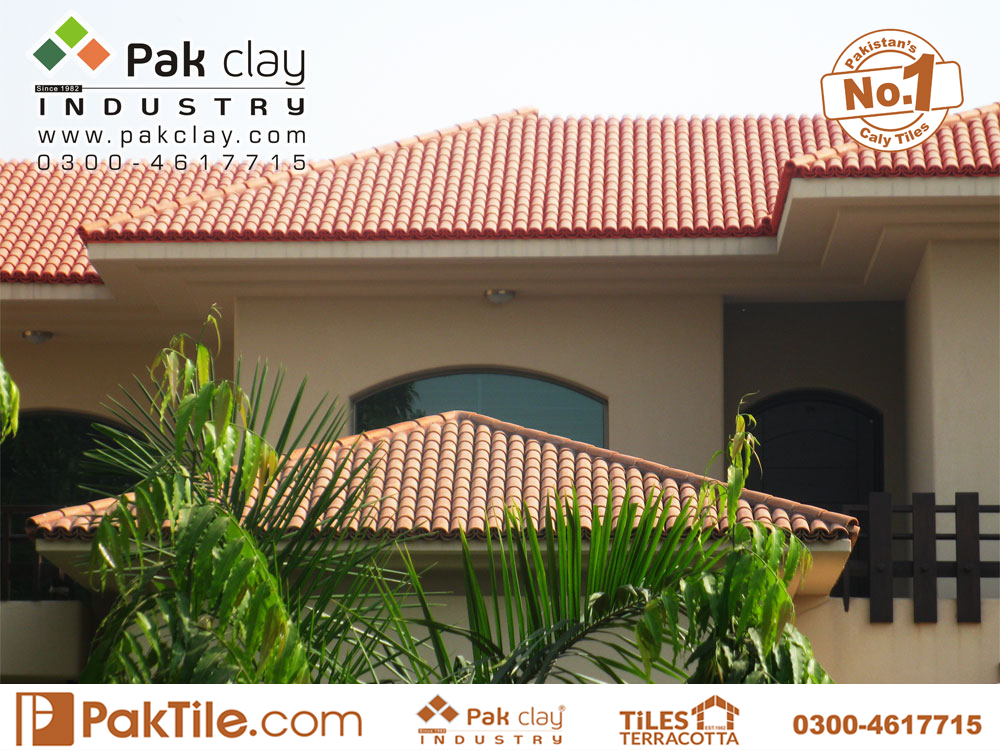 5 Pak clay range of colours products in ridge and hip round barrel red farmhouse khaprail roofing shingles tiles factory stores supply in peshawar pakistan images
