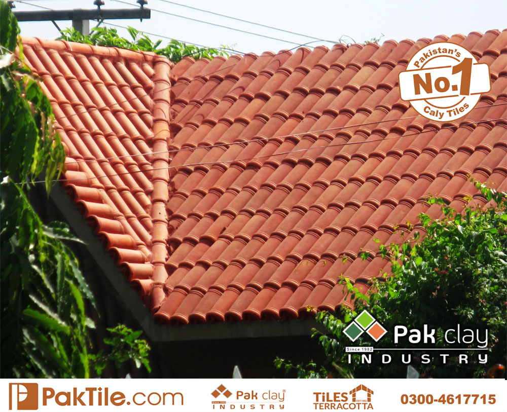 9 Pak clay buy best quality roof heat insulation material type khaprail tiles shop price rates house design images photos in lahore punjab pakistan