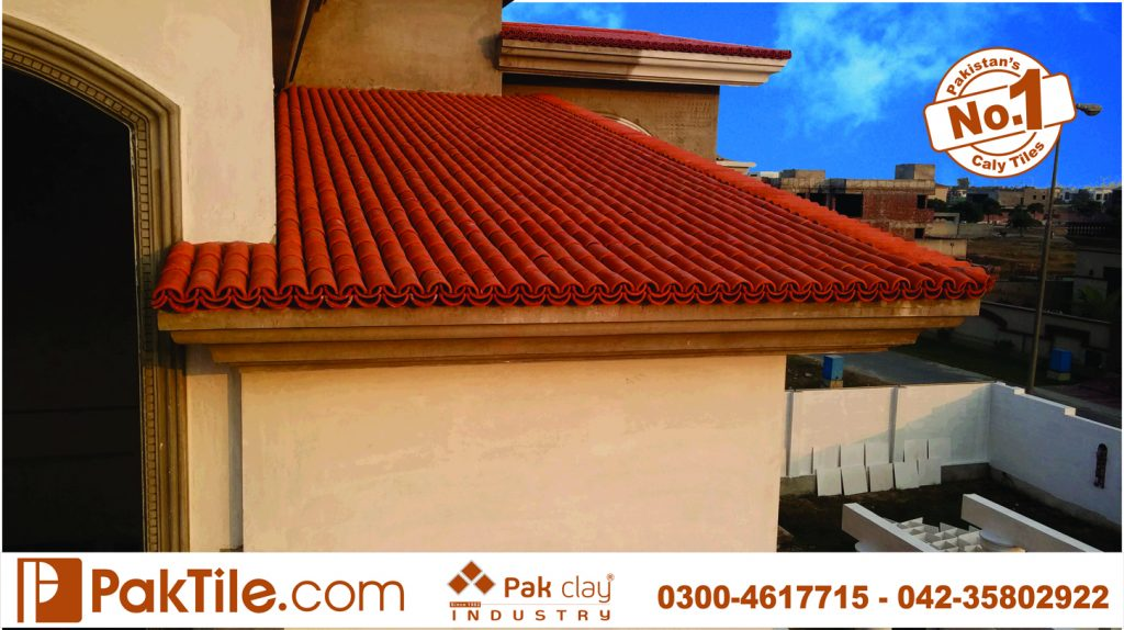 Buy best quality irani glazed ceramic clay khaprail roofing tiles home slope shed canopy materials wholesale factory outlet suppliers online house pictures faisalabad karachi pakistan