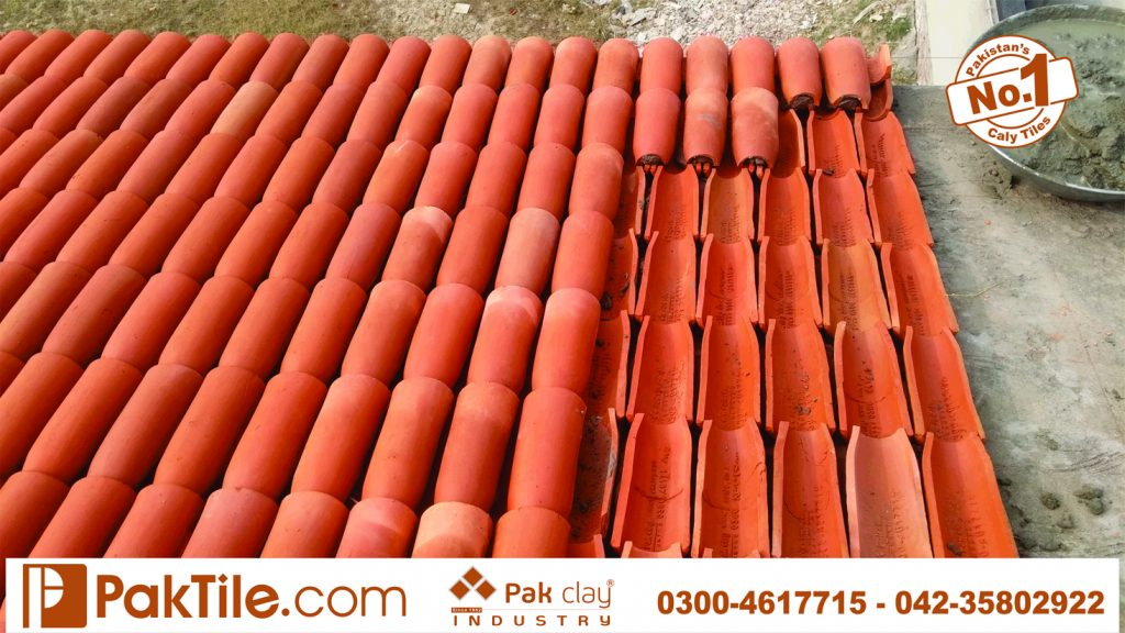 No 1 high quality factory price‎ buy shop online plastic marble look natural red brick ceramic barrel double roof shigles khaprail tiles size terracotta material images Lahore Karachi Kpk