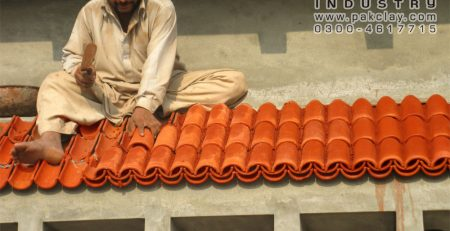 Pak Clay Slope Shed Roof Red Khaprail Shingles Tiles Installation Textures Design Patterns Factory Company Shop Price Near Me in Lahore Islamabad Faisalabad Karachi Pakistan Images