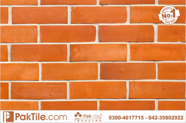 Pak clay exterior home front facing red gas bricks gutka wall tiles size shop price karachi pakistan images