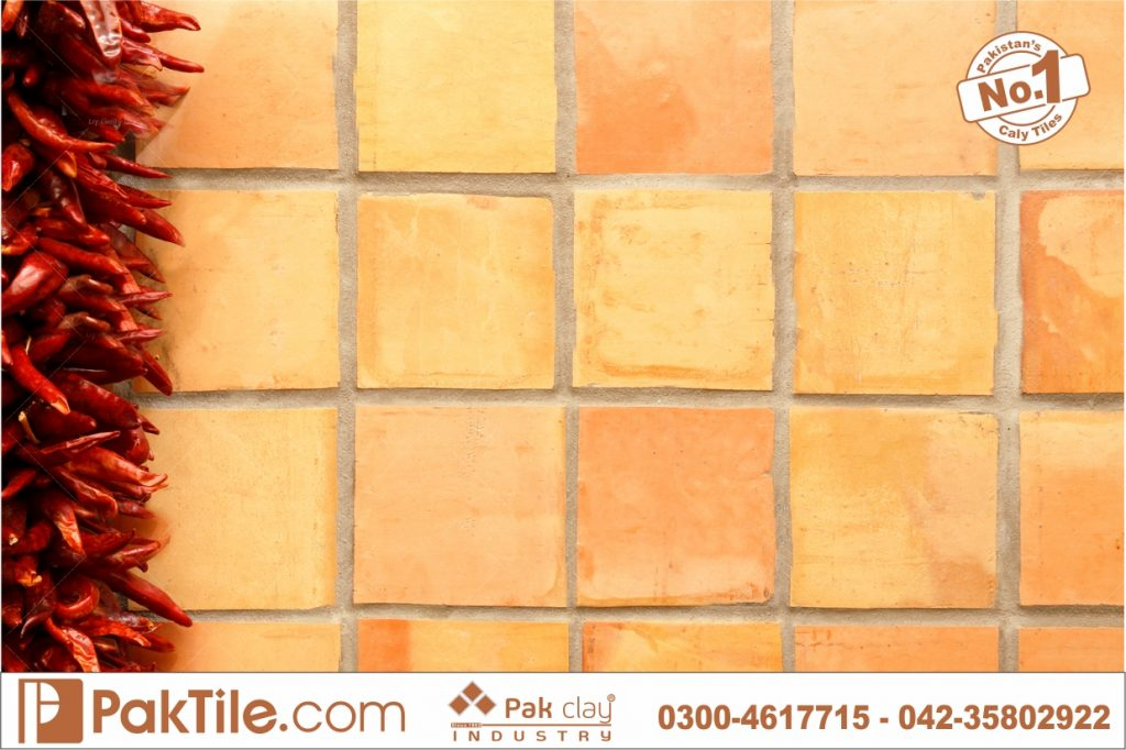 Pak clay gas red brick wall tiles variety of different design square shape images pictures gallery pakistan