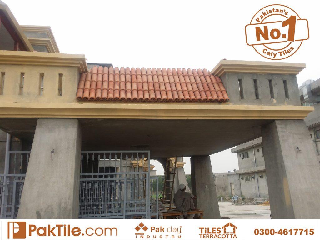 Buy pak clay roof tiles terracotta shingles colors design types for sale price in lahore karachi islamabad and peshawar available my showroom near me images
