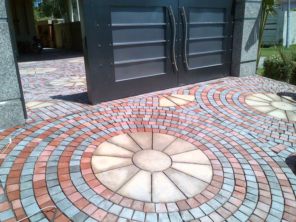 House Main Gate Ramp Tiles Design Images in Pakistan (2)