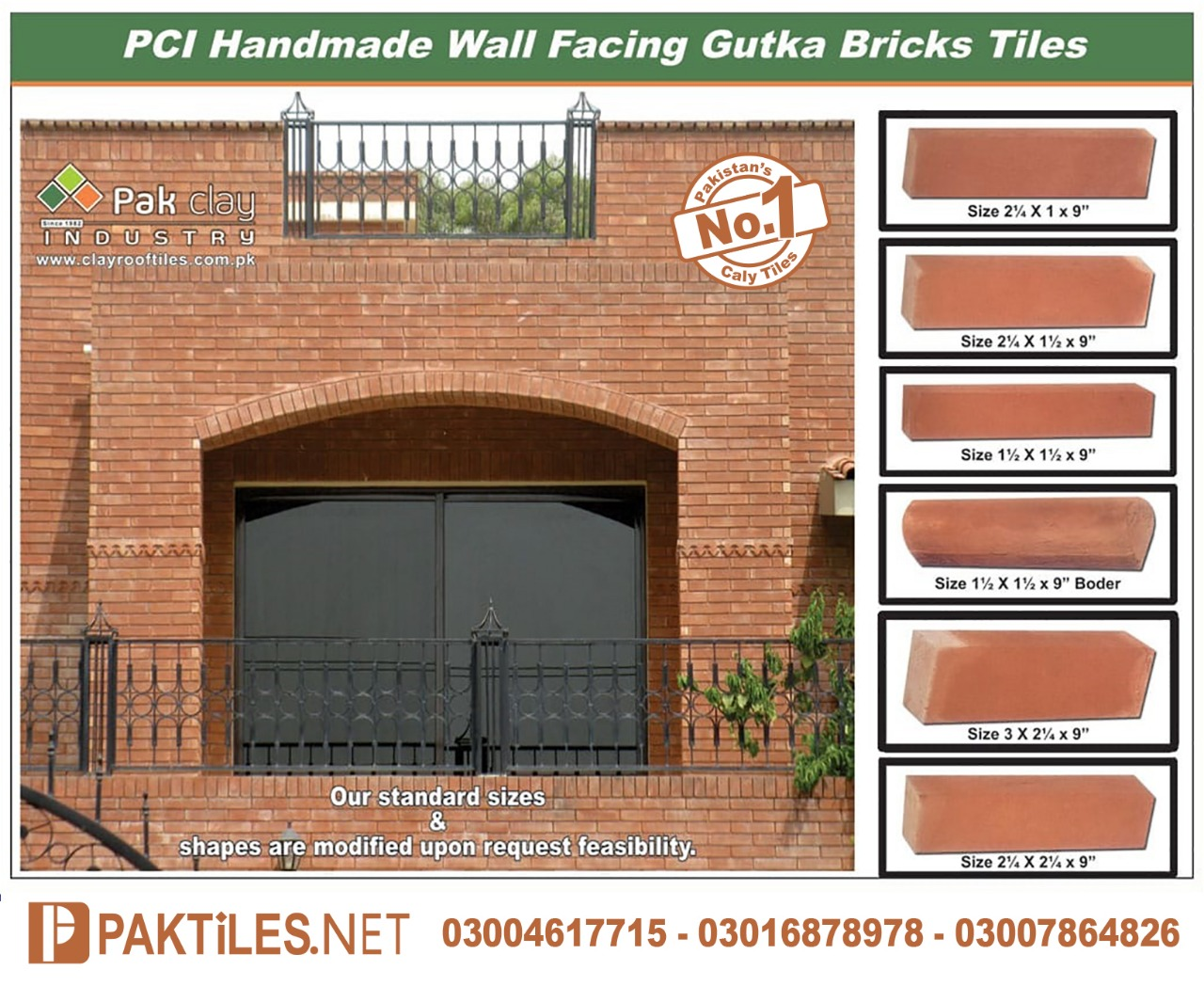 Red Gutka Tile Size Fair Face Bricks