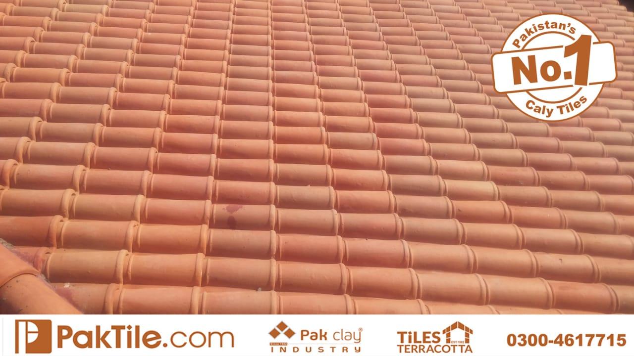 Clay roof tiles in Pakistan