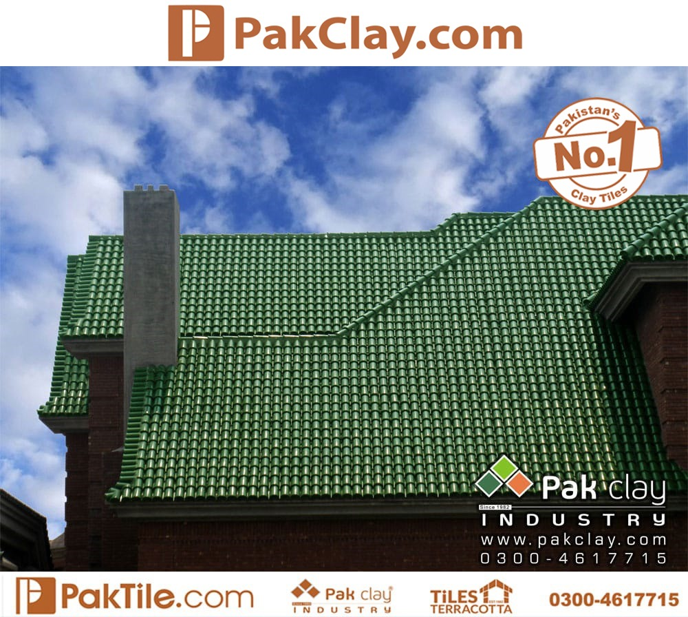 Clay Natural Khaprail Tiles Green Color
