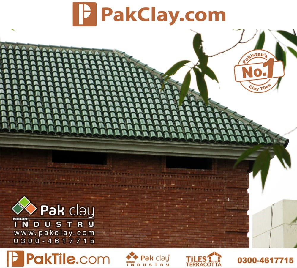 Natural Clay Tiles Green Khaprail