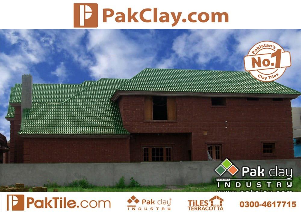 Natural Khaprail Tiles Green Glazed