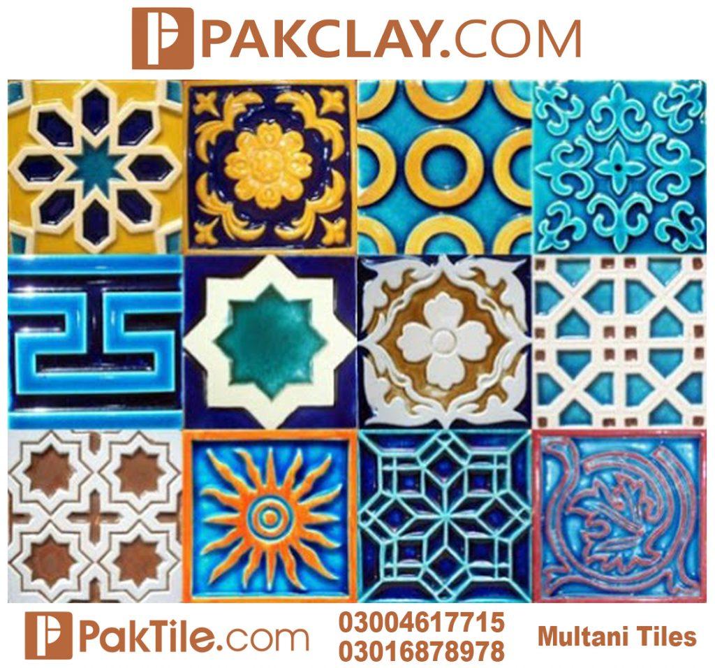 Pak Clay Porcelain Wall Blue Multani Tiles Price