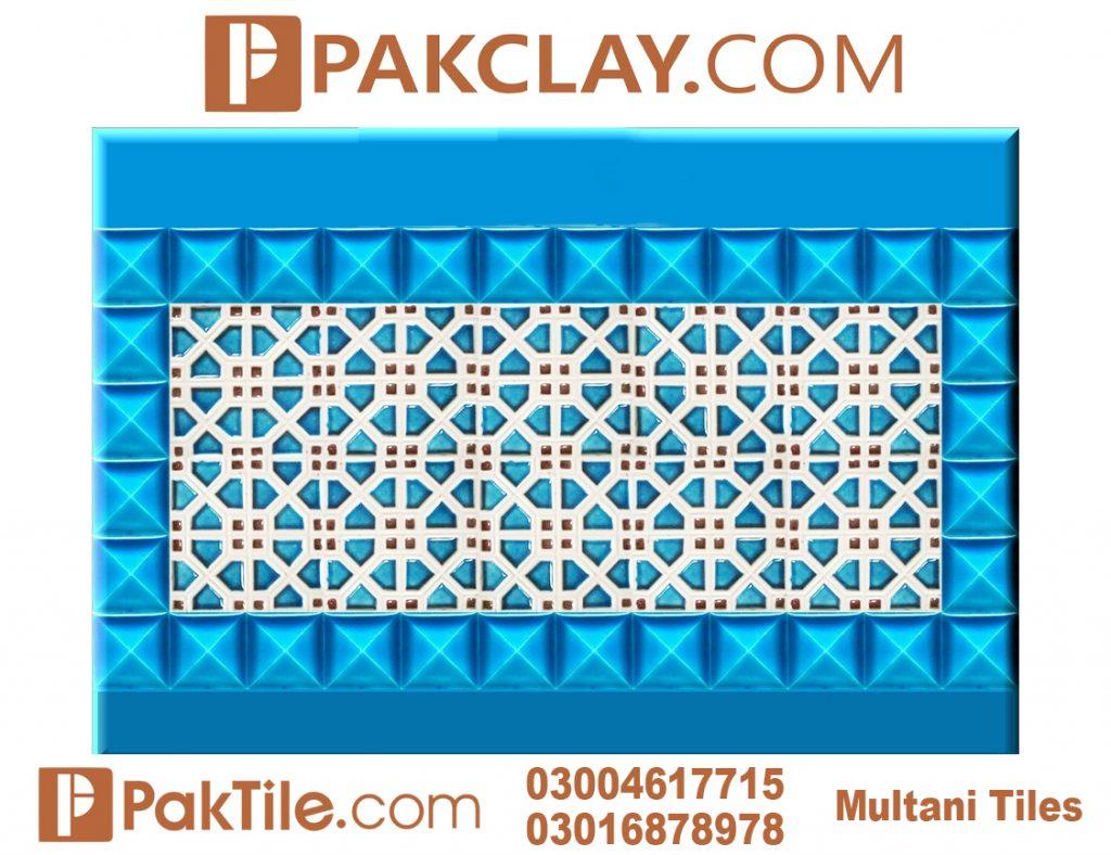 Pak Clay Outdoor Face Blue Multani Tiles Design