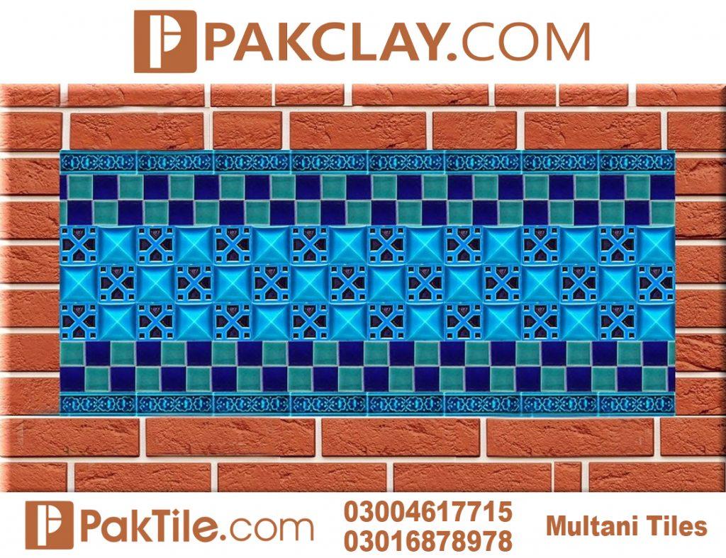 Pak Clay Exterior Brick Wall Tiles Blue Multani Tiles Price