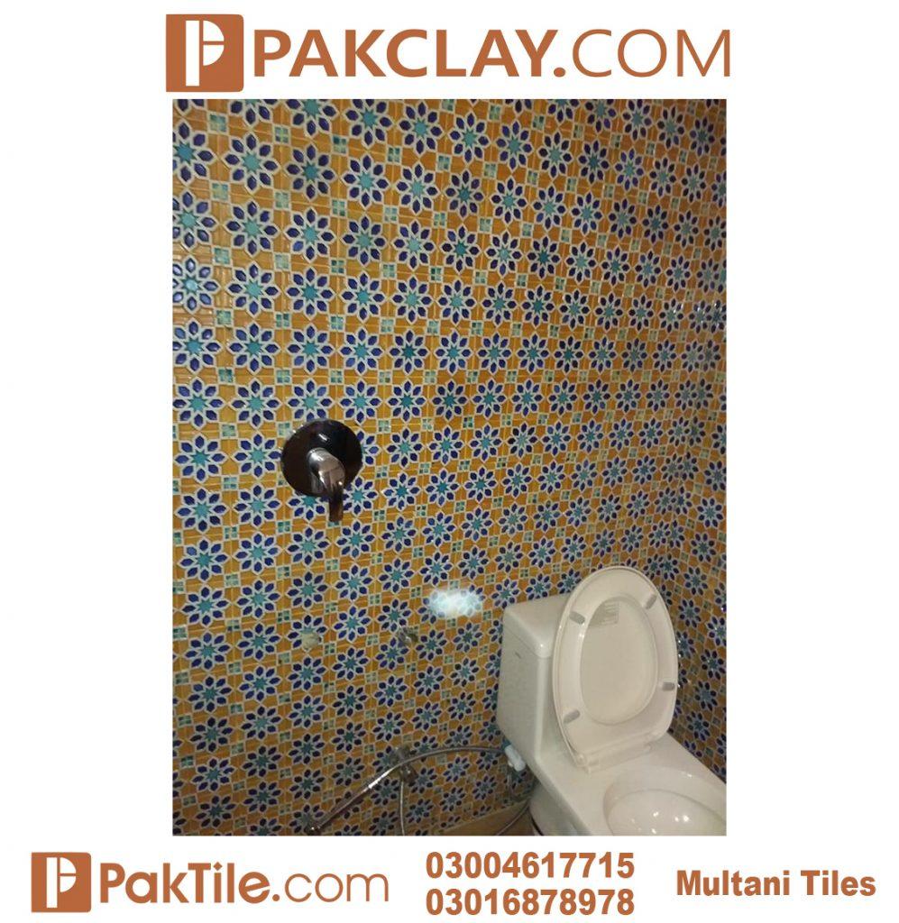 Pak Clay Blue Colors Bathroom Wall Multani Tiles and Naqashi
