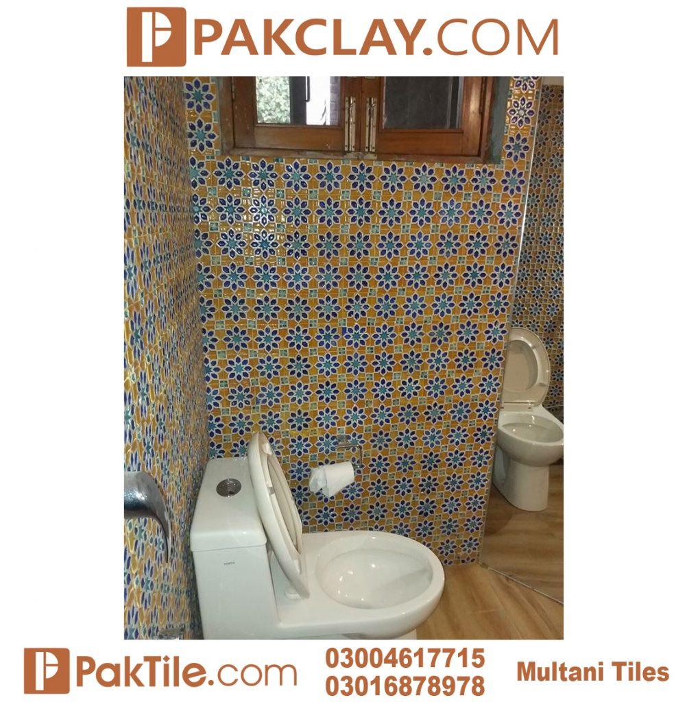 Pak Clay Cheap Price Toilet Blue Multani Tiles For Washroom