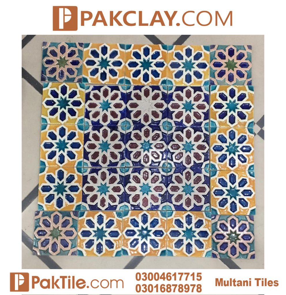 Pak Clay Latest Design Front Elevation Yellow Multani Tiles Rate