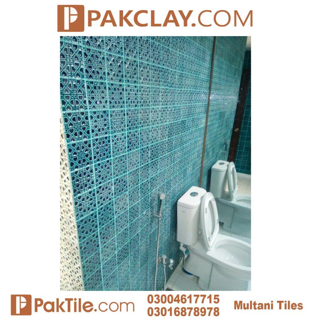 Pak Clay Blue Colors Multani Tiles For Bathrooms