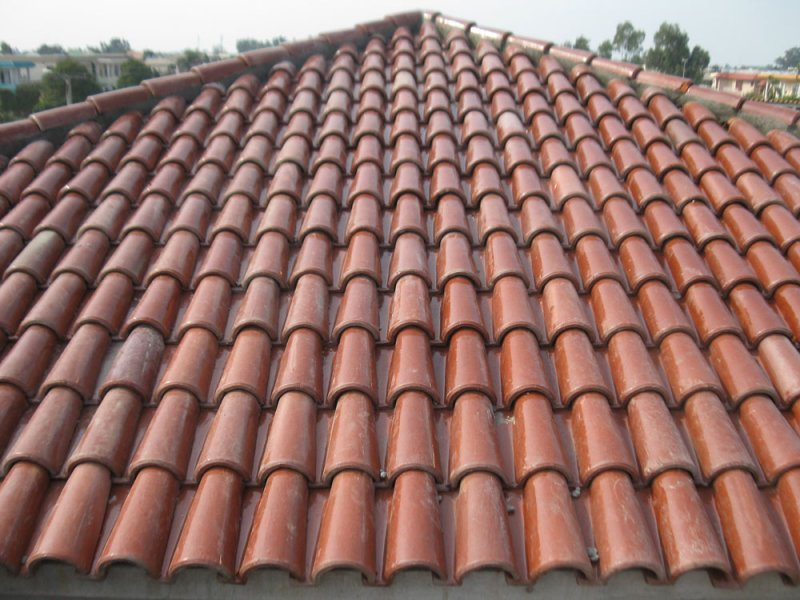 Spanish glazed tile 11 pak clay roof tiles pakistan for Spanish clay tile roof